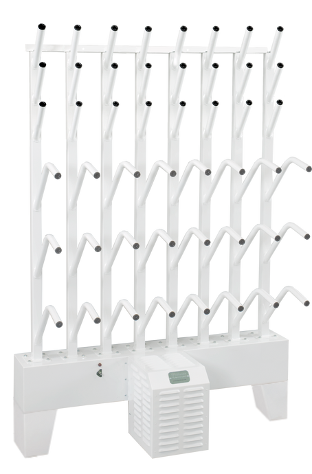 wall mounted twelve boot and twelve glove dryer