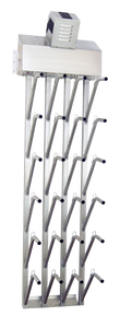W12fg | Wall mount 12 pr top hung stainless steel boot dryer (24 boots TOTAL)