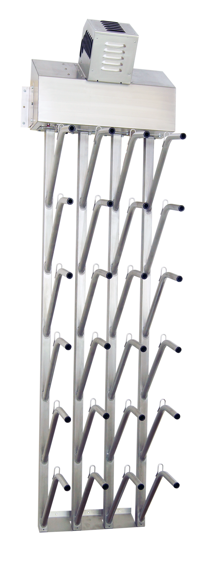 industrial wall mounted twelve pair boot dryer