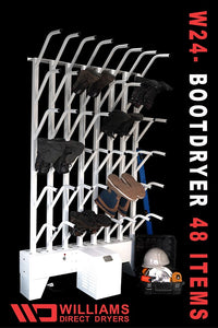 W24 | Wall mounted 24 pr boot dryer (48 boots TOTAL) - Prices start at: