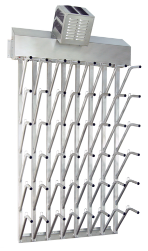 W24fg | Wall mount 24 pr top hung stainless steel boot dryer (48 boots TOTAL)