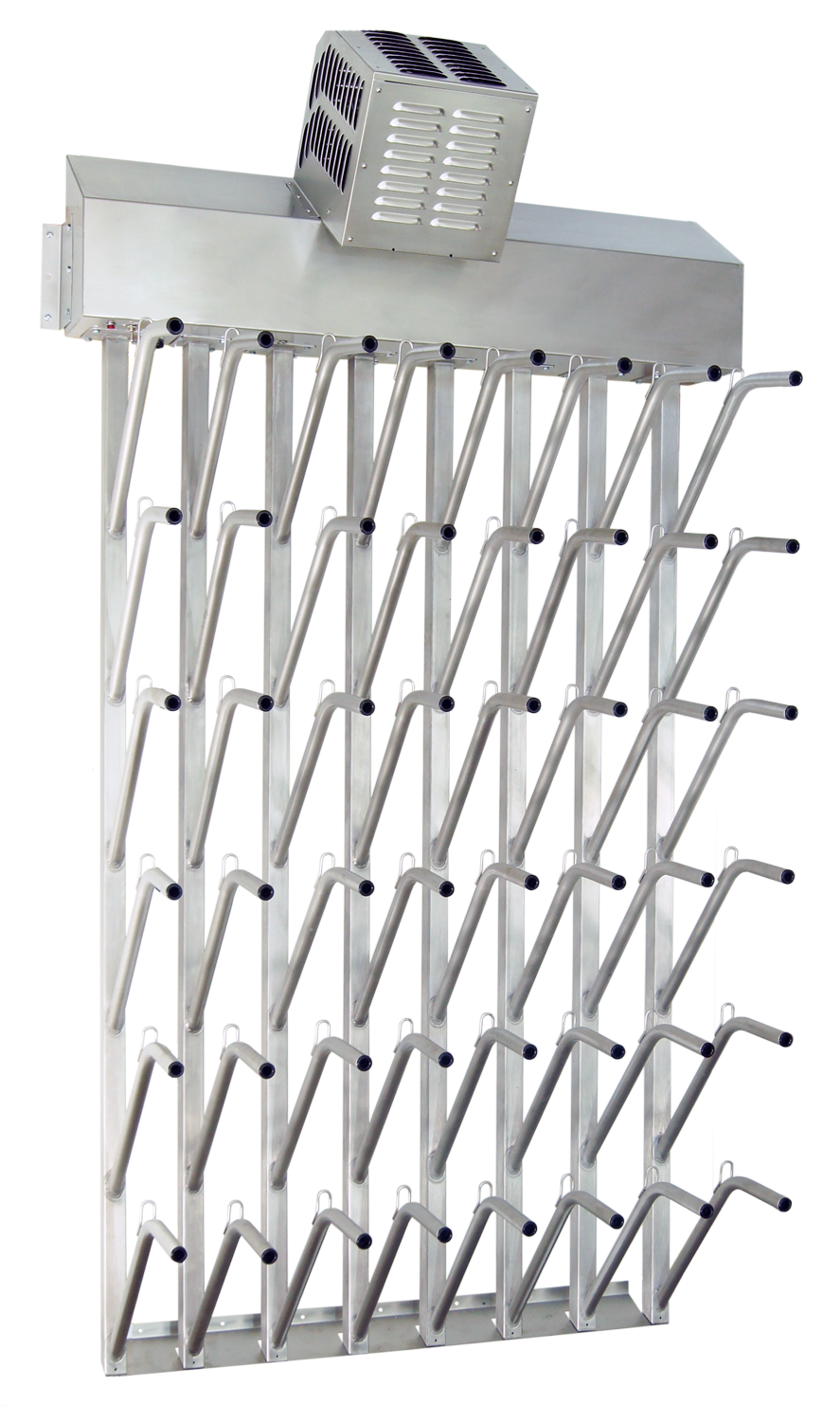 industrial wall mounted twenty four pair boot dryer