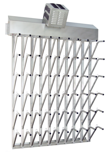 W30fg | Wall mount 30 pr top hung stainless steel boot dryer (60 boots TOTAL)