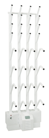 wall mounted eight pair boot and eight pair glove dryer