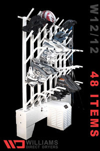 W12/12 | Wall mounted 12 pr boot & 12 pr glove dryer (24 boots & 24 gloves TOTAL) - Prices start at: