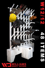 Load image into Gallery viewer, W12/12 | Wall mounted 12 pr boot & 12 pr glove dryer (24 boots & 24 gloves TOTAL) - Prices start at: