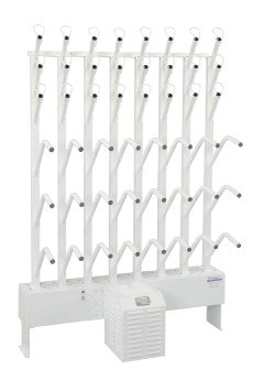 Wall mounted 12 pair boot & 12 pair glove dryer with standard boot arm