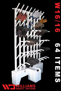 W16/16 | Wall mounted 16 pr boot & 16 pr glove dryer (32 boots & 32 gloves TOTAL) - Prices start at: