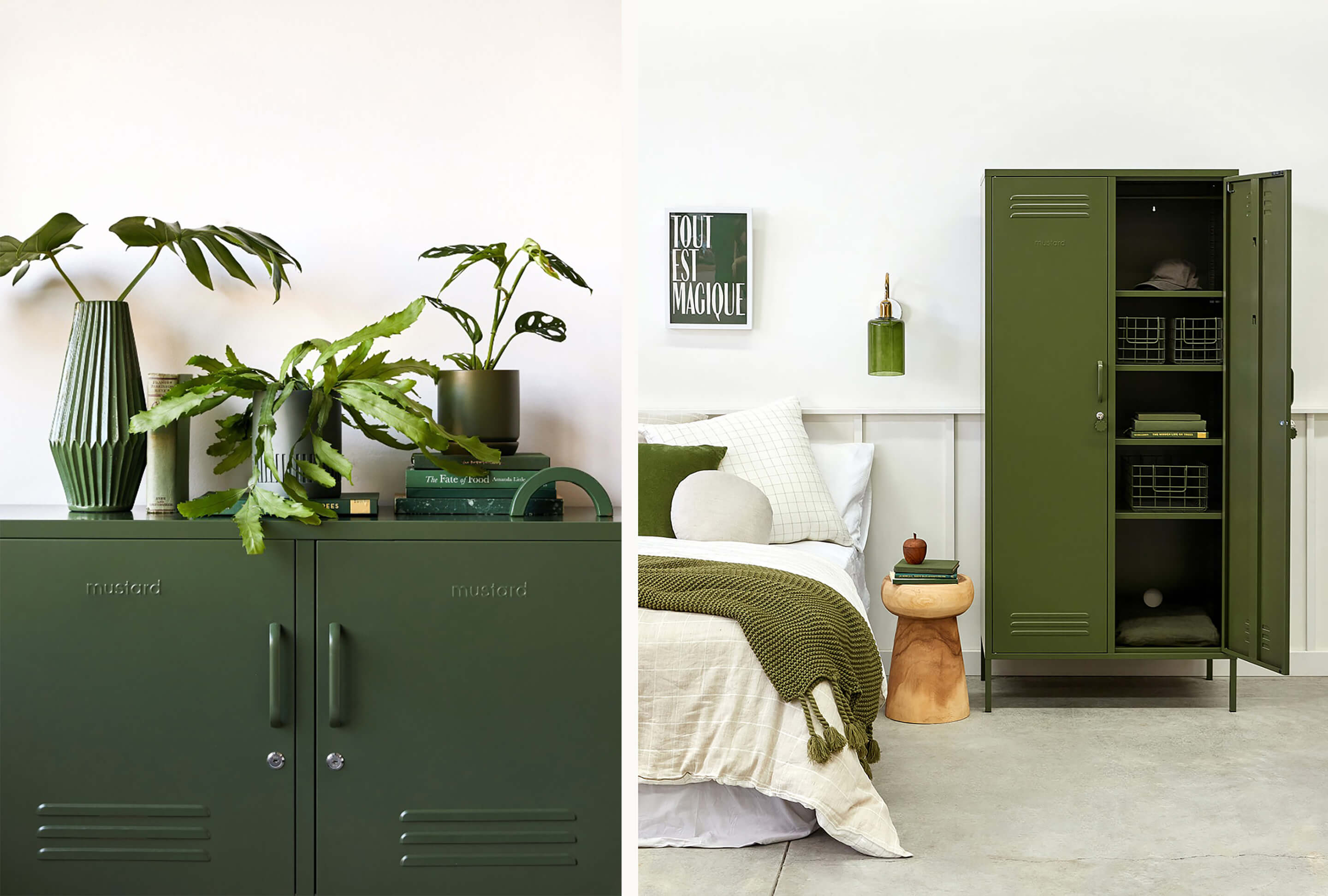 Mustard Made lockers now available to shop online at Life Interiors - great for stylish storage in your home office, living areas, or bedrooms!