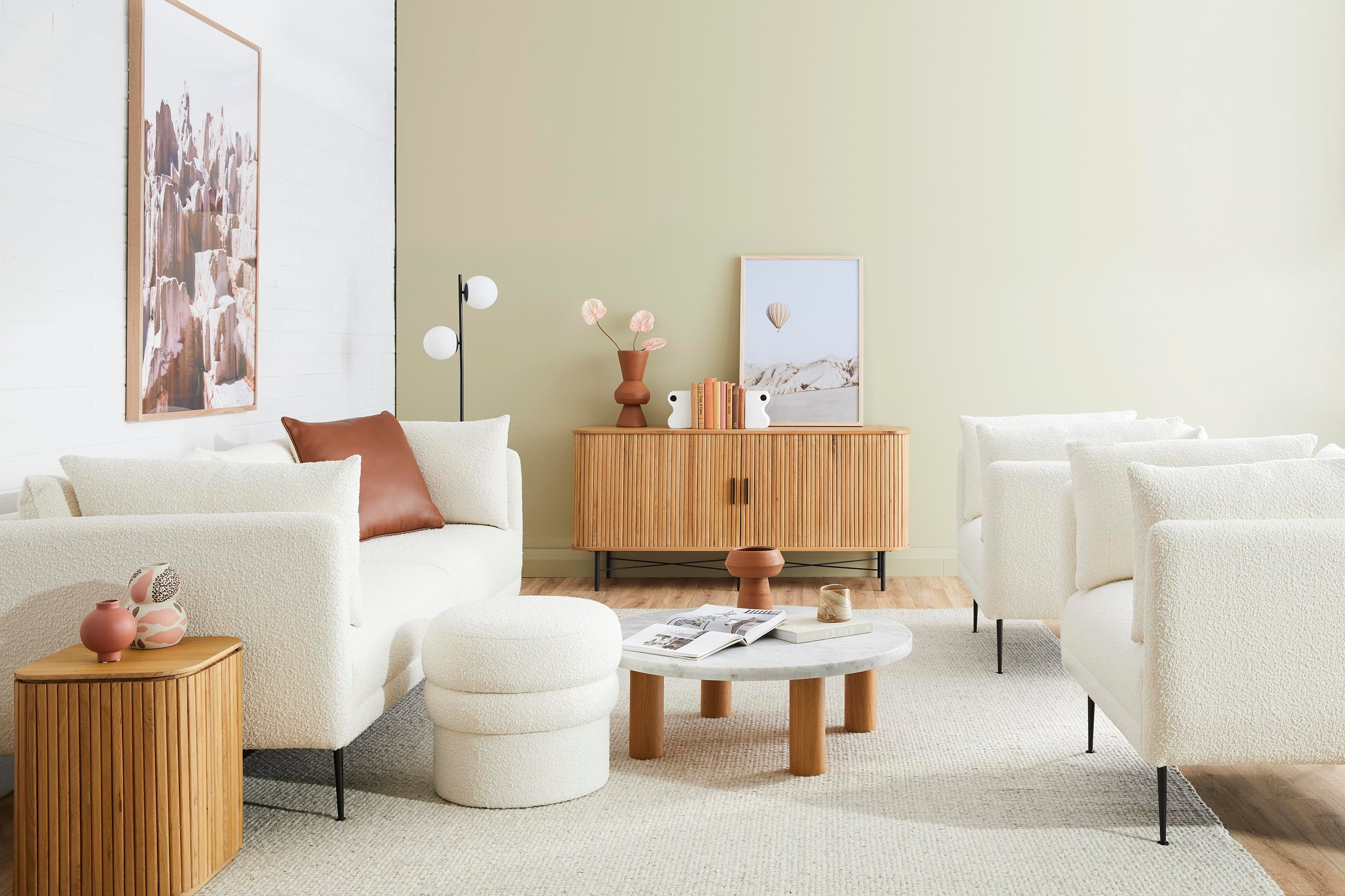 Shop our boucle furniture collection in Sydney, Melbourne and online.