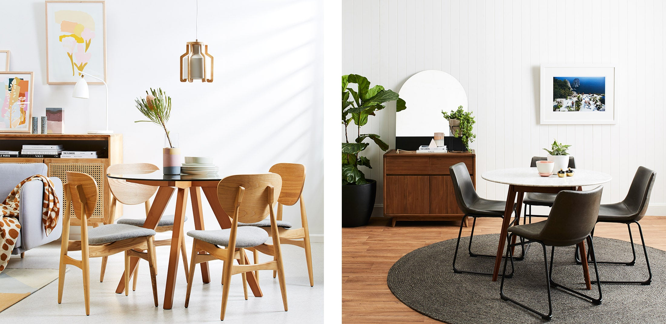 Shop the Amber and Oia Dining Tables in Sydney, Melbourne and Online.