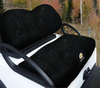 Cart Logic Onyx Black Lux Plush Golf Cart Seat Cover Set