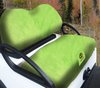 Cart Logic Tangy Lime Green Lux Plush Golf Cart Seat Cover Set