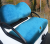 Cart Logic Ocean Blue Lux Plush Golf Cart Seat Cover Set