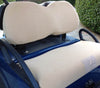 Cart Logic Sandy Beaches Tan Fleece Seat Cover Set