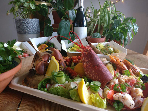 Seafood Platter, 4 sides &  Lind & Lime Gin- Friday