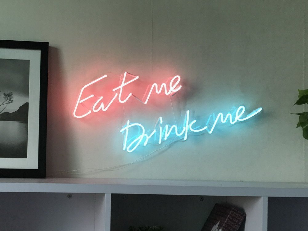 """eat me drink me"" Wall Neon Sign"