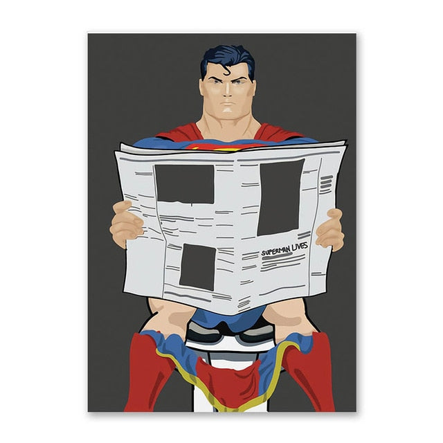 Superman - Everything Bathroom Version - Wall Poster