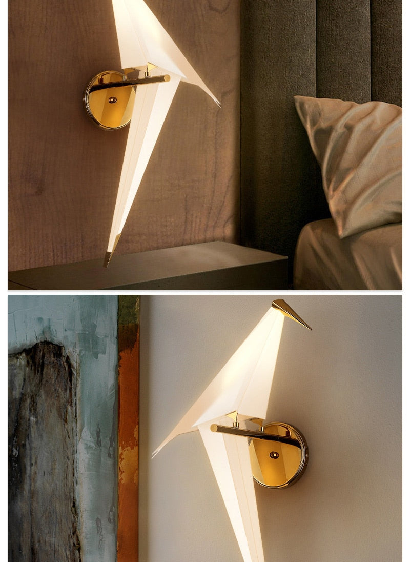 """Vagary"" Bird Origami Wall Lamp Artistic Limited Edition Collection"