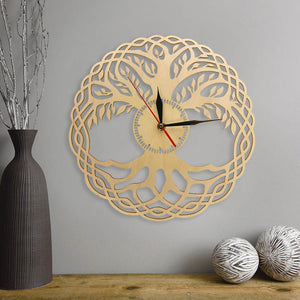 """Life Tree"" Wooden Wall Clock Limited Collection"