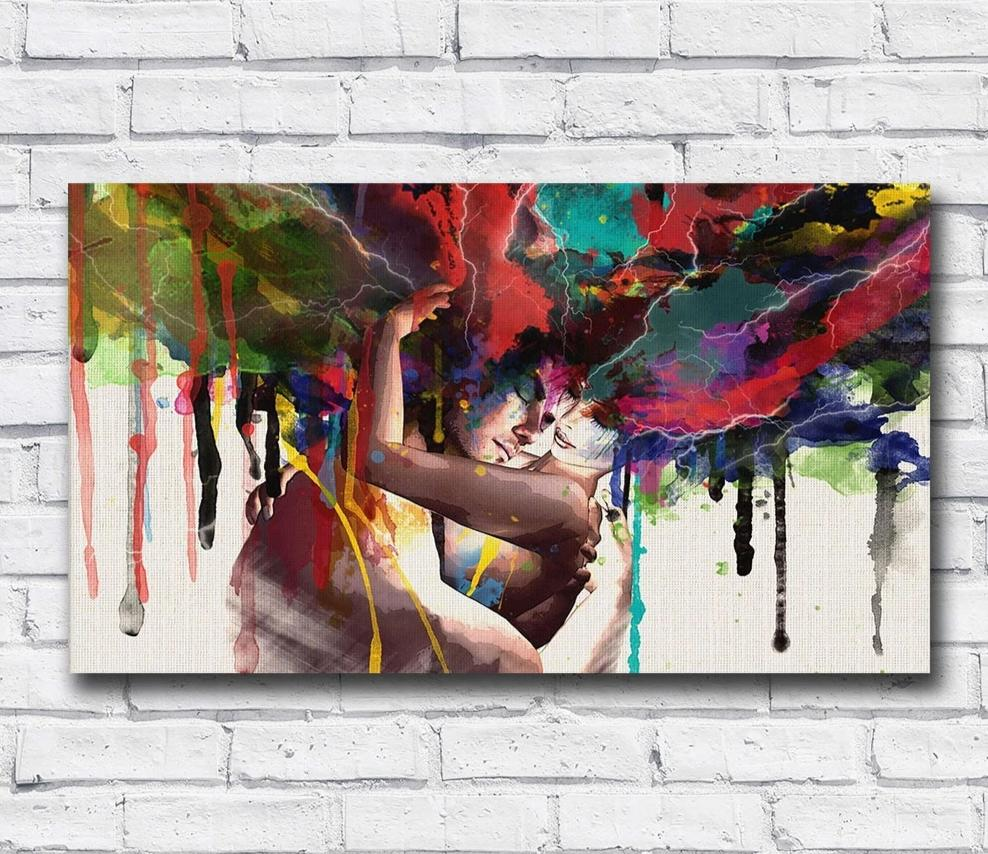 """Lovers"" Wall Canvas Art Collection"