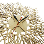 """Koral"" Wooden Wall Clock Limited Collection Unique Pieces"