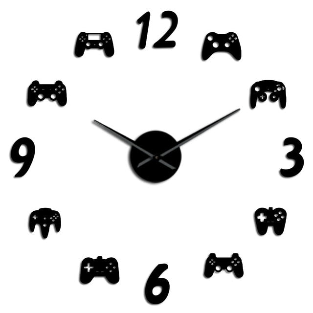 DIY Wall Clock Stickers - Gamers Edition