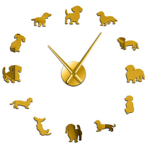 "DIY Wall Clock Sticker ""Dogs"" Collection"