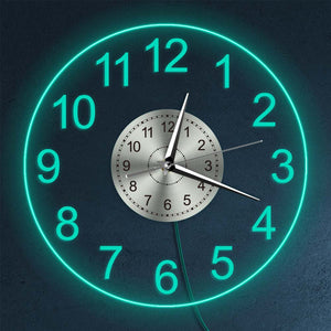 """EON"" LED Lighting Wall Clock Limited Edition Collection Unique Pieces"