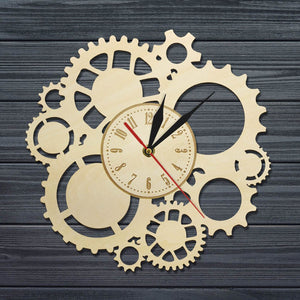 """Steam"" Wooden Wall Clock Geometric Limited Collection"