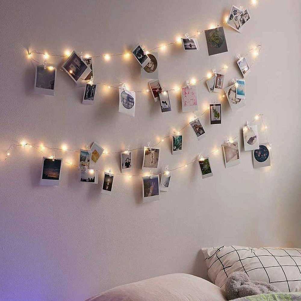 Led lights and Clips Wall Hangign Decor