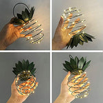 Eco-Friendly Solar-powered Pineapple Lights