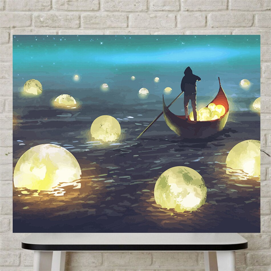 """Moon River"" wall canvas"