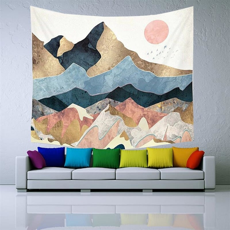 Abstract Desert Wall Tapestry