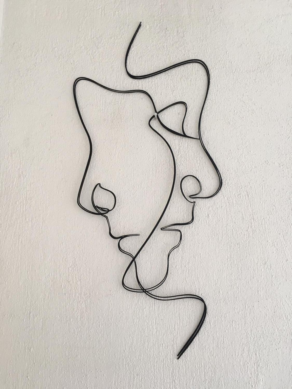 """Double Faced"" Metal Wall Art"