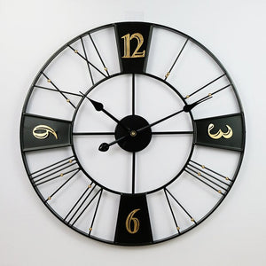 """Black Sun"" Wall Clock"