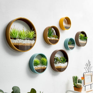 """Green city"" Wall hanging Vases Pastel collection"