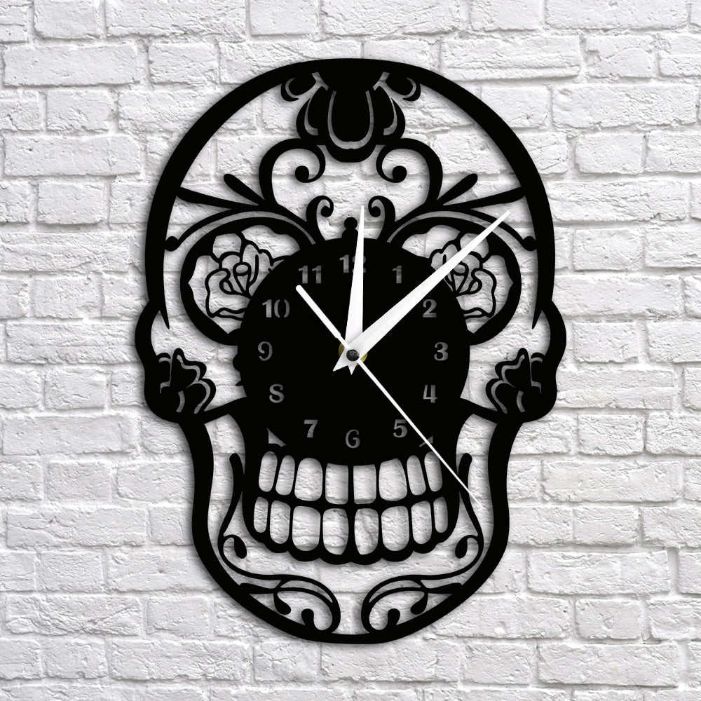 """Sugar Skull"" Wall Clock Limited Edition Collection"