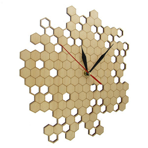 """Honey"" Wooden Wall Clock Limited Collection Unique Pieces"