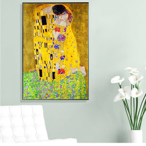 "Inspired By Klimt ""Kiss"" Wall Canvas"