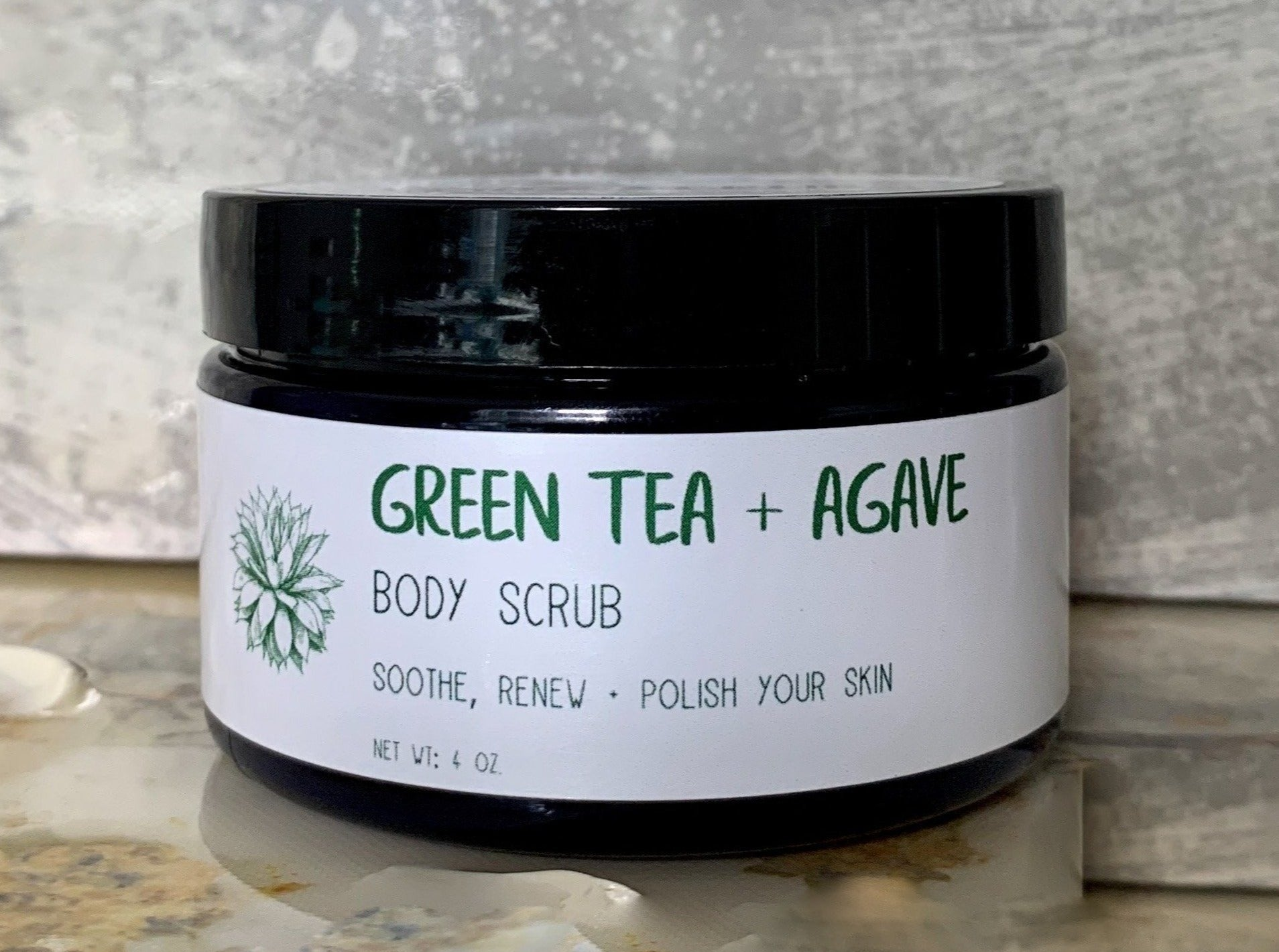 Green Tea + Agave Body Scrub