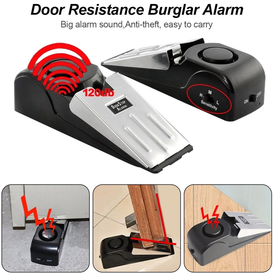 Mini Door Stop Alarm