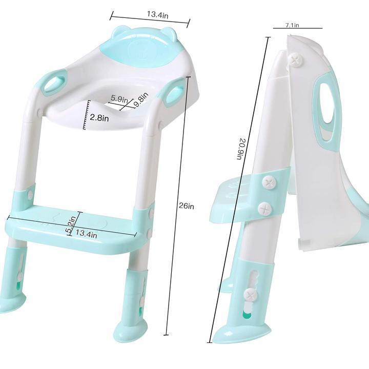 Potty Toilet Seat with Step Stool Ladder for All Stages Kids Ages 1-7