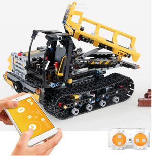Stick Control Voice Interaction Smart RC Robot Car - Engineering Vehicle