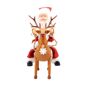 Christmas Music Walking Riding Deer Santa