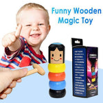 LITTLE WOODEN MAN WHO CAN'T BEAT INTERESTING MAGIC TOY