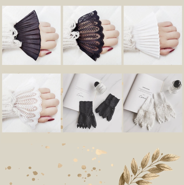 Layered Sleeve Wrist Cuff
