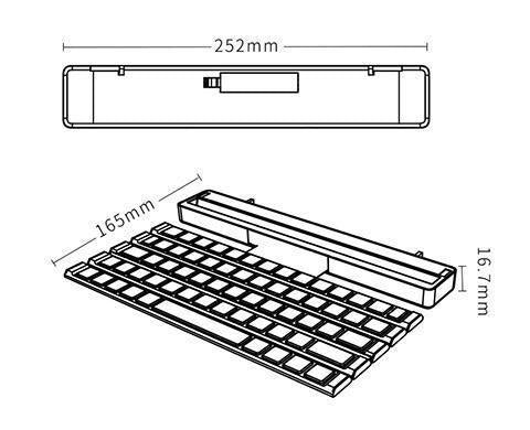 Foldable Wireless Rollable Bluetooth Keyboard