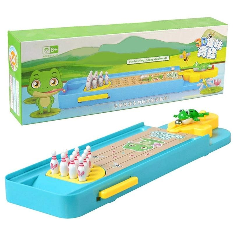 Mini Frog Bowling Interactive Board Game