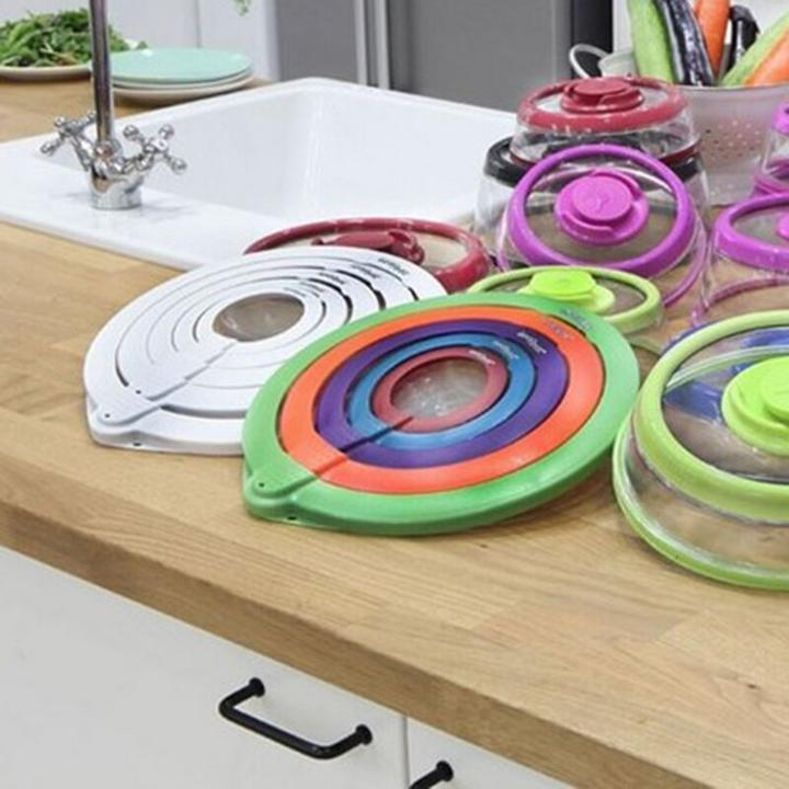 Vacuum Lids Seal Fresher Food - 5 Pcs